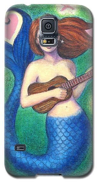 Galaxy S5 Case featuring the painting Heart Tail Mermaid by Sue Halstenberg