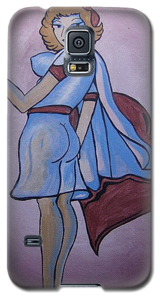 Galaxy S5 Case featuring the painting Heartbreaker by Leslie Manley