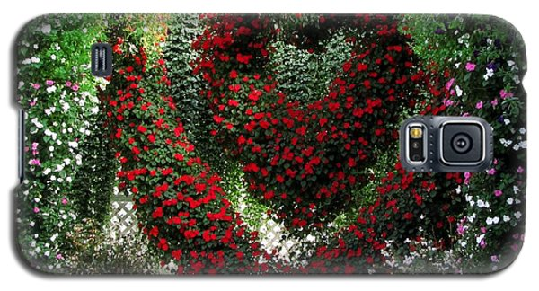 Galaxy S5 Case featuring the photograph Hearts And Flowers by Jennifer Wheatley Wolf
