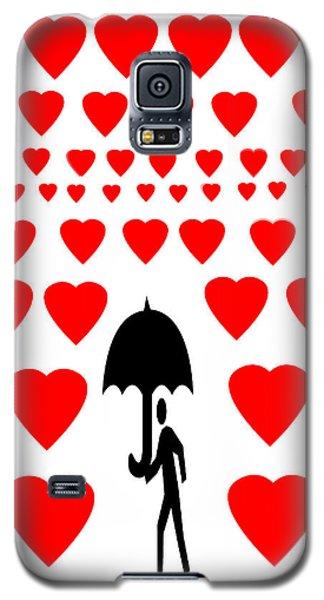 Galaxy S5 Case featuring the digital art Hearts Attack  by Sladjana Lazarevic
