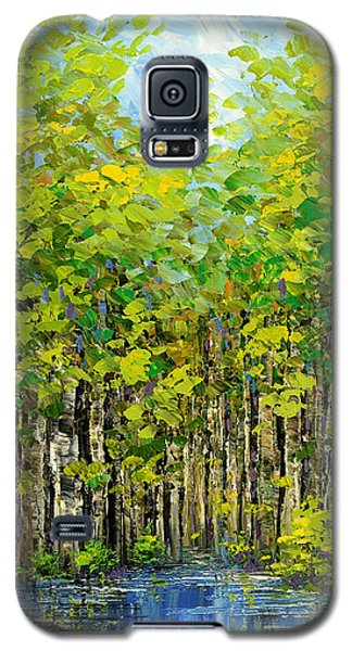 Galaxy S5 Case featuring the painting Heat Of Summer by Tatiana Iliina