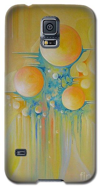 Galaxy S5 Case featuring the painting Heavenly City by Alexa Szlavics