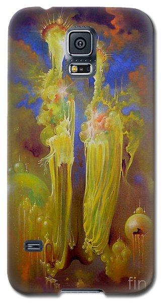 Galaxy S5 Case featuring the painting Heavenly Kingdom by Alexa Szlavics