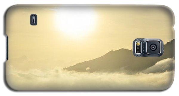 Galaxy S5 Case featuring the photograph Heavenly Peaks by Sebastien Coursol