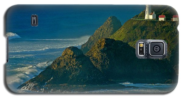 Galaxy S5 Case featuring the photograph Heceta Head Seascape by Nick  Boren