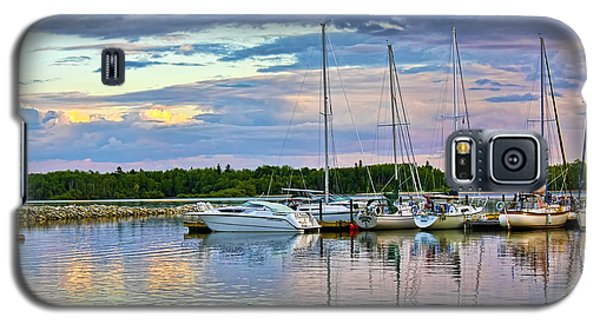 Galaxy S5 Case featuring the photograph Hecla Island Boats II by Teresa Zieba