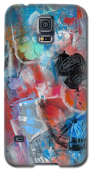 Galaxy S5 Case featuring the painting Hectic by Katie Black
