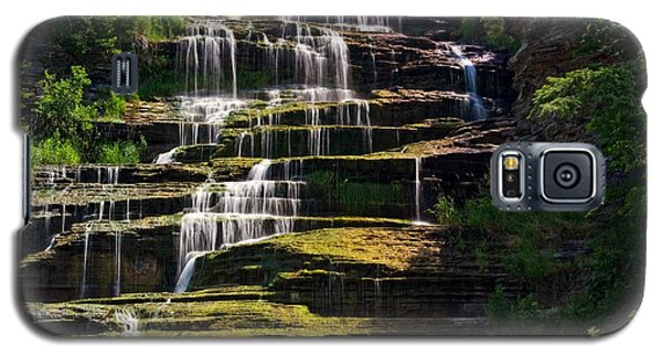 Galaxy S5 Case featuring the photograph Hector Falls by Dave Files