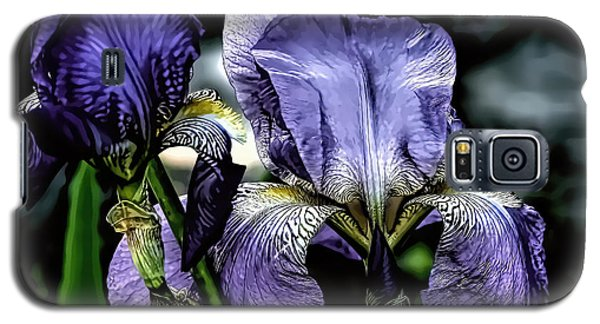 Heirloom Purple Iris Blooms Galaxy S5 Case