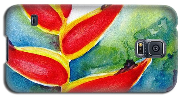 Heliconia - Abstract Painting Galaxy S5 Case by Carlin Blahnik