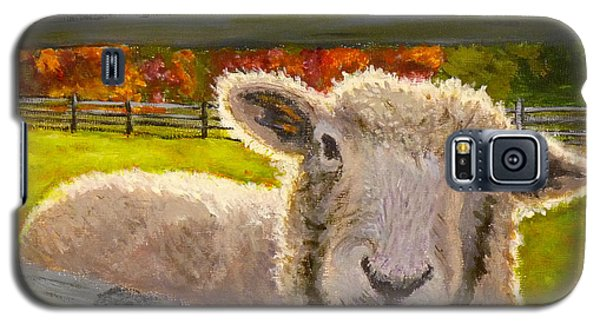 Galaxy S5 Case featuring the painting Hello by Joe Bergholm