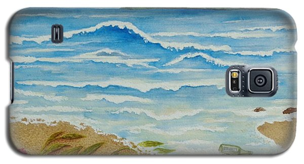 Galaxy S5 Case featuring the painting Hello? by Katherine Young-Beck