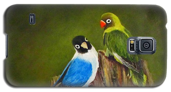 Galaxy S5 Case featuring the painting Hello by Roseann Gilmore