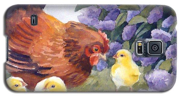 Hen And Chicks Chicken Art Galaxy S5 Case