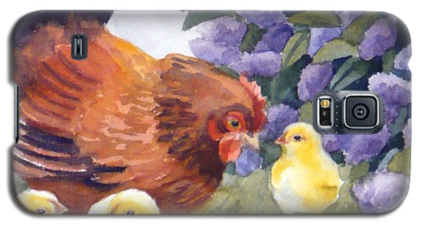 Hen And Chicks Among The Lilacs Galaxy S5 Case