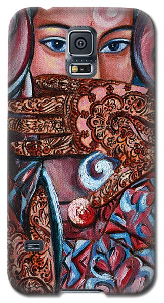 Galaxy S5 Case featuring the painting Henna by Harsh Malik