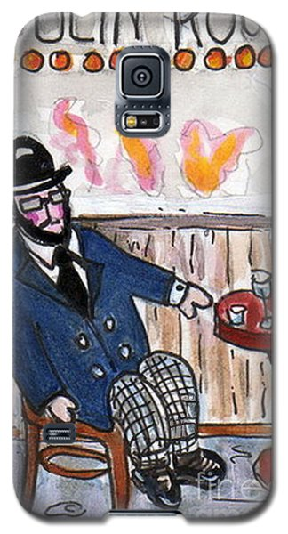 Galaxy S5 Case featuring the painting Henri Always Enjoys His Evenings. by Joyce Gebauer