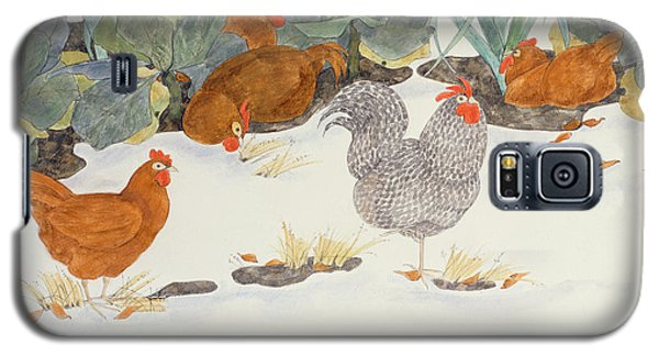 Hens In The Vegetable Patch Galaxy S5 Case by Linda Benton