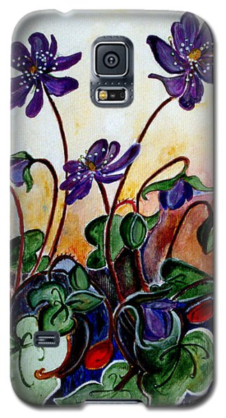 Hepatica After A Design By Anne Wilkinson Galaxy S5 Case by Veronica Rickard