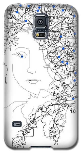 Galaxy S5 Case featuring the digital art Her Hair by Sladjana Lazarevic
