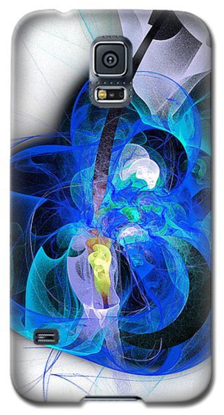 Her Heart Is A Guitar Blue Galaxy S5 Case