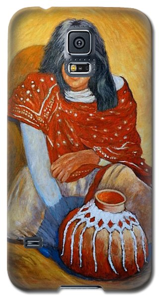 Galaxy S5 Case featuring the painting Her Last Pot by Charles Munn