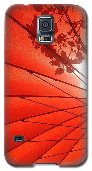 Her Red Parasol Galaxy S5 Case by Brenda Pressnall