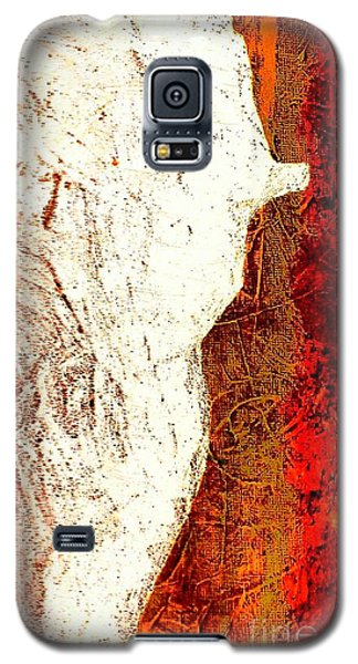 Her Red Silhouette Galaxy S5 Case by Jacqueline McReynolds