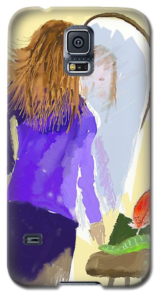 Galaxy S5 Case featuring the digital art Her Reflection by Arline Wagner