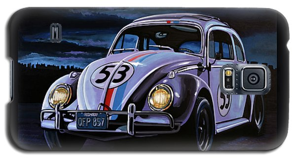 Beetle Galaxy S5 Case - Herbie The Love Bug Painting by Paul Meijering