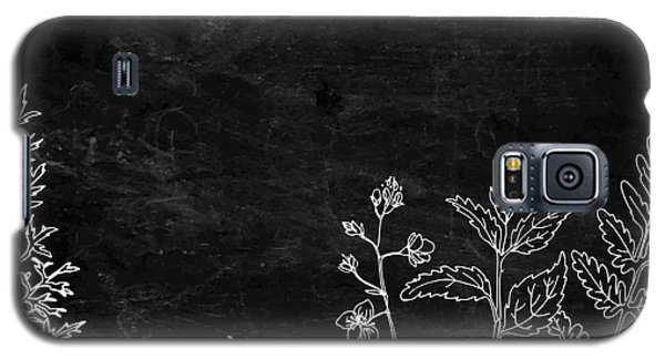 Branch Galaxy S5 Case - Herbs And Flowers Painted Color Line by Irina Vaneeva
