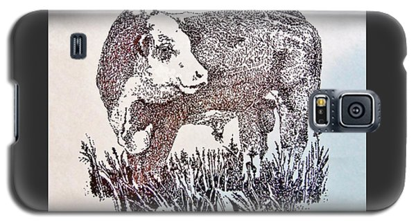 Polled Hereford Bull  Galaxy S5 Case by Larry Campbell