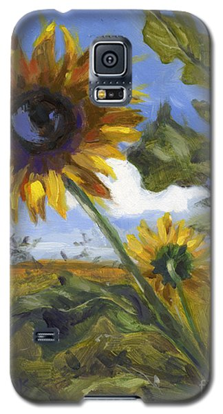 Galaxy S5 Case featuring the painting Here's Looking At You Kid by Nancy  Parsons
