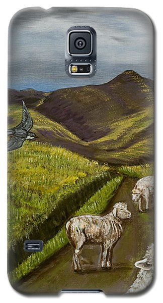 Galaxy S5 Case featuring the painting Here's Looking At You Kid by Susan Culver