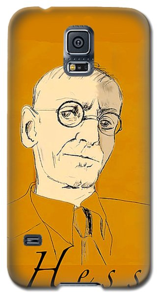 Galaxy S5 Case featuring the digital art Herman Hesse by Asok Mukhopadhyay