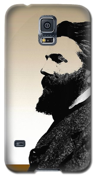 Galaxy S5 Case featuring the digital art Herman Melville by Asok Mukhopadhyay