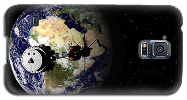 Galaxy S5 Case featuring the digital art Hermes1 Leaving Earth Part 1 by David Robinson