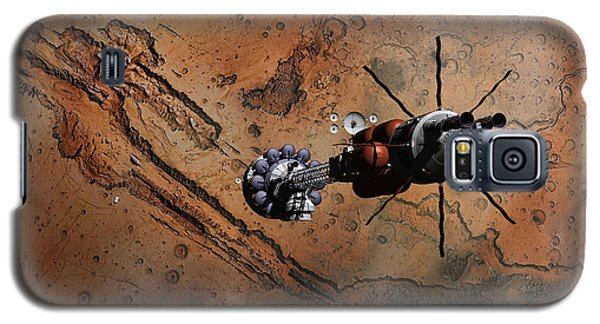Galaxy S5 Case featuring the digital art Hermes1 With The Mars Lander Ares1 In Sight by David Robinson