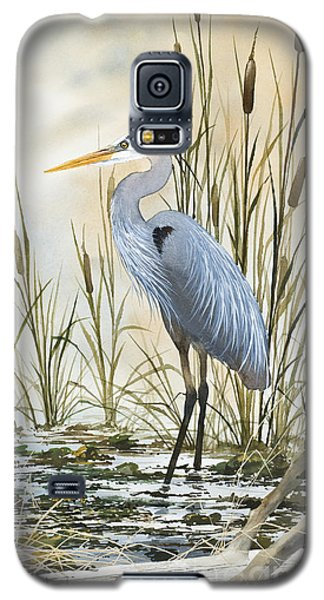 Heron And Cattails Galaxy S5 Case
