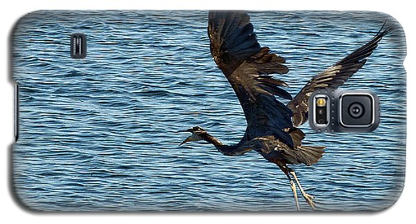 Heron In Flight Galaxy S5 Case