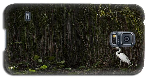Heron In Grass Galaxy S5 Case
