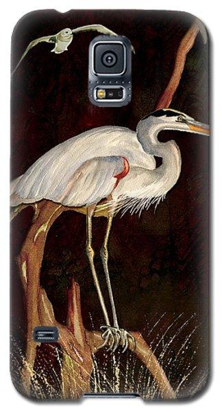 Heron In Tree Galaxy S5 Case