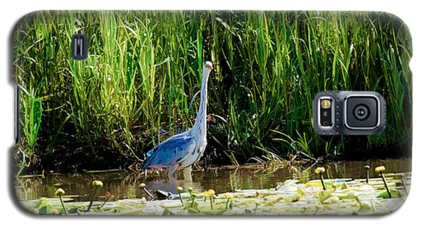 Galaxy S5 Case featuring the photograph Heron by Leif Sohlman