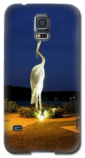 Heron On Mill Pond Galaxy S5 Case