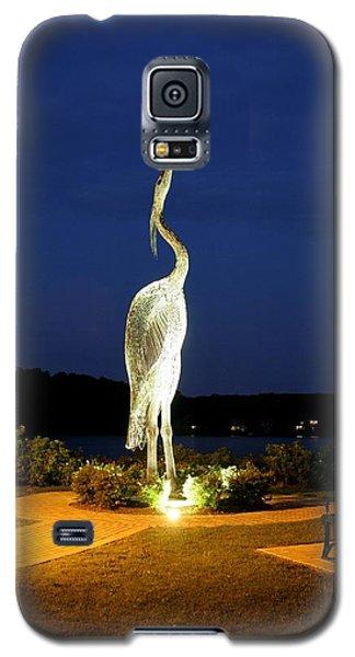 Heron On Mill Pond Galaxy S5 Case