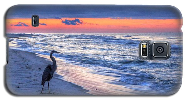 Heron On Mobile Beach Galaxy S5 Case by Michael Thomas