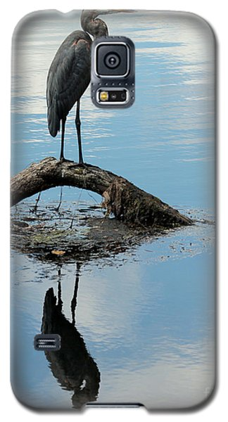 Galaxy S5 Case featuring the photograph Heron Reflection by Kenny Glotfelty