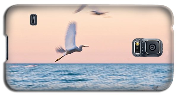 Herons Flying Over The Sea  Galaxy S5 Case