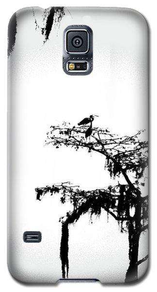 Galaxy S5 Case featuring the digital art Herons by Lizi Beard-Ward