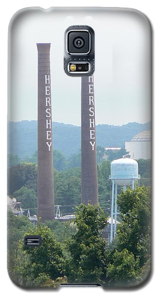 Galaxy S5 Case featuring the photograph Hershey Smoke Stacks by Michael Porchik